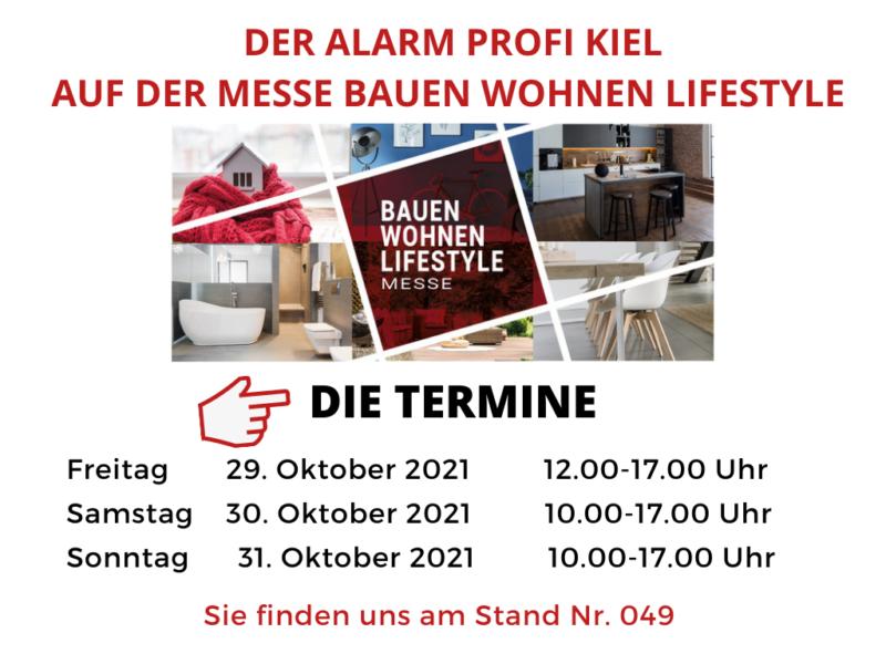 DER ALARM PROFI auf der Bauen Wohnen Lifestyle Messe 2021 in Kiel